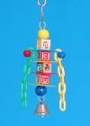 K1803 - Naučné kostky s plastovými doplňky a zvonečkem