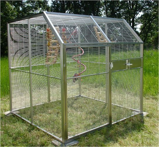 Outdoor Stainless Steel Aviary