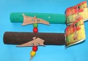 PPL - Brusné bidlo L s kůžemi a hračkou